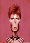 David Bowie Caricature by Phillustrator-uk