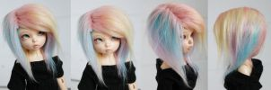 Pastel Rainbow wig by MonstroDesigns
