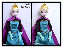 repainted ooak elsa of arendelle doll from frozen. by verirrtesIrrlicht