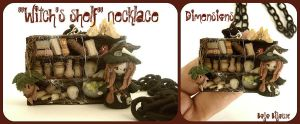 """Witch's shelf"" Necklace by Bojo-Bijoux"
