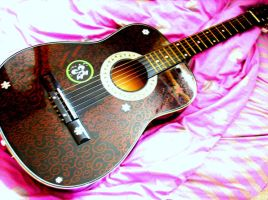 my guitar with swirles by Niviella