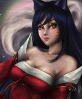 Ahri by Nindei