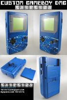 Custom painted Blue Gameboy by Thretris