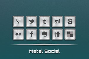 Metal Social Icons by soulzdead