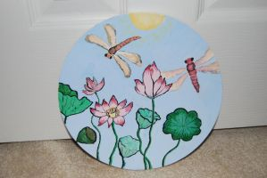 Lotus Painting by Espell