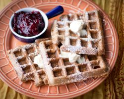 Pumpkin Coconut Waffles by LilElisebug