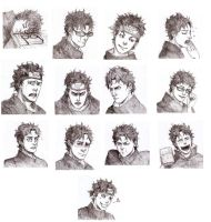 the many faces of Uchiha Shisui by Sanzo-Sinclaire