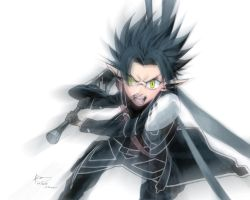 Sword Art Onlin: Kirito Alfheim Rage by Nick-Ian