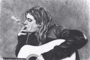 Kurt Cobain by atergnetic
