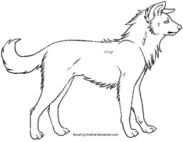 free dog lineart by pandapoots