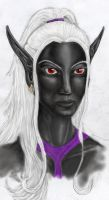Portrait of a Digital Drow by Mistresselysia