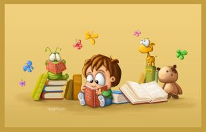 Reading - Tooshtoosh by childrensillustrator
