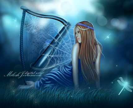 Midnight harp by MiloshJevremovic