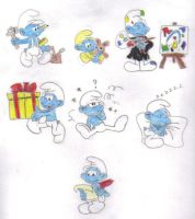 My Favorite Smurfs by KessieLou