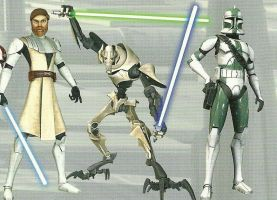 Obi-Wan, Grievous and Gree by Rin4