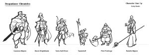 Dragonlance ruff line up by PiratoLoco