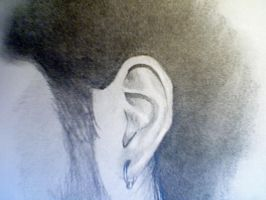 """E"" for Ear with Earring by mechex9"