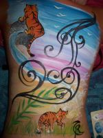 Body art. Tigers by Cha-23h30