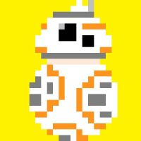 Pixel art - BB-8  by TheRozrabiak