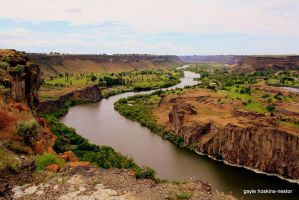 Snake River Via Twin Falls by Intergrativeone