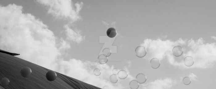 Festival Bubbles BW by Bluemoon305