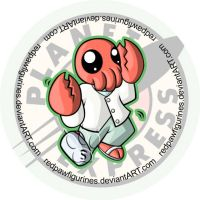Dr. Zoidberg Chibi Badge by RedPawDesigns