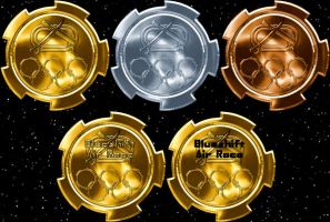 Olympic Medals with stars by Lunatron