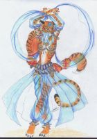 Tigress Belly Dancer by WhiteFenrril
