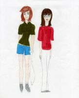 Peppermint Patty and Marcie by Lady-Icefire