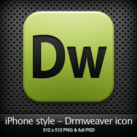 iPhone style - Dw CS4 icon by YaroManzarek