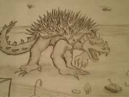 Anguirus is attacking!!! by SuperFIFIBros