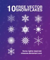 Vector Snowflakes EPS by misszoe