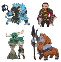 Dota 2 - Mini Dire STR heroes part 2 by spidercandy