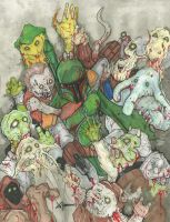 Boba Fett vs. Zombies by ChrisOzFulton