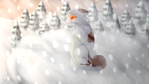 Caught in the Snow by JudgePikachu