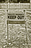 KEEP OUT by FellowPhotographer