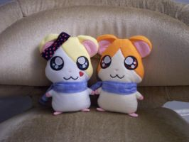 Hamtaro Plushies commission by TwistedShangrila