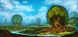 Environment Concept - Trees by ArtofNyra
