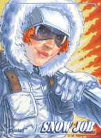 SNOW JOB! sketch card by warballoon