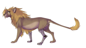 a lion of epicly tiny proportions by Ei-fay