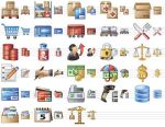 Large Logistics Icons by yourmailkept