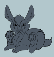 Baby rabbit lineart FOR SALE by mysteriousharu