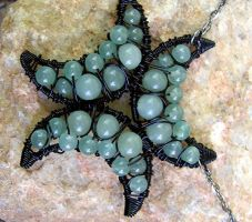 Aventurine Triple Crescent by MoonLitCreations