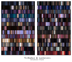 nebulae and galaxies gradients by saturnstock