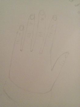 My Hand Attempt #1 by CelestialSmudjy