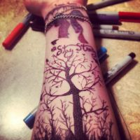 sharpie tattoo #1 by xXAll-Hope-Is-GoneXx