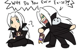 Chibi Sephiroth Fight by GuardianOfTheFlame