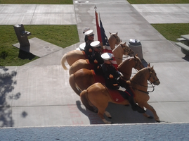 Horses on School Campus - 4 by CNLGraphics