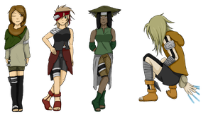 Unnamed Naruto OCs Coloured by ayysis