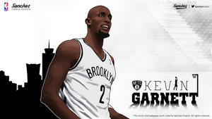 Kevin Garnett Vector by SanchezGraphic